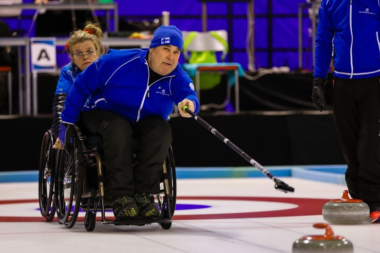 Finland made it through to the semi-finals of the World Wheelchair-B Curling Championships on home ice today ©WCF