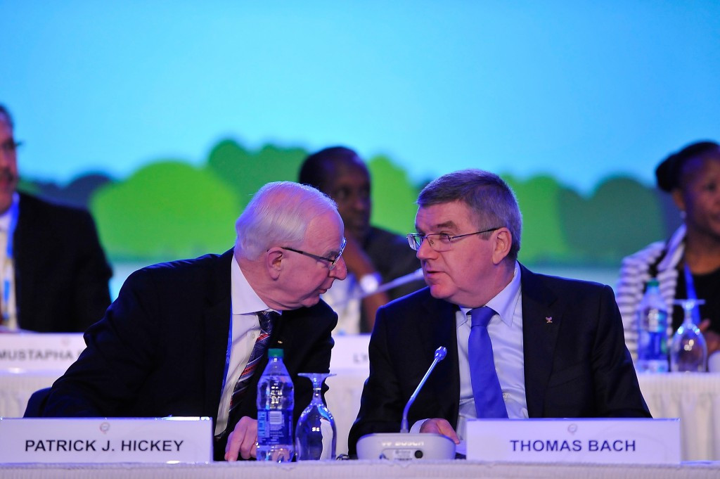 Patrick Hickey was a key supporter of Thomas Bach's campaign to be elected International Olympic Committee President in 2013 ©Getty Images