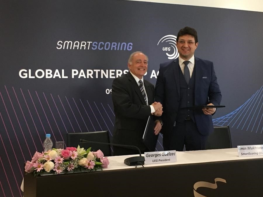 European Union of Gymnastics sign partnership agreement with SmartScoring