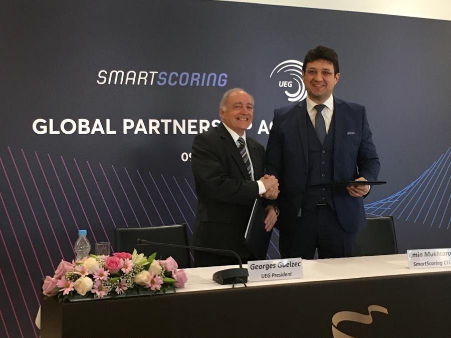 European Union of Gymnastics sign partnership agreement with SmartScoring