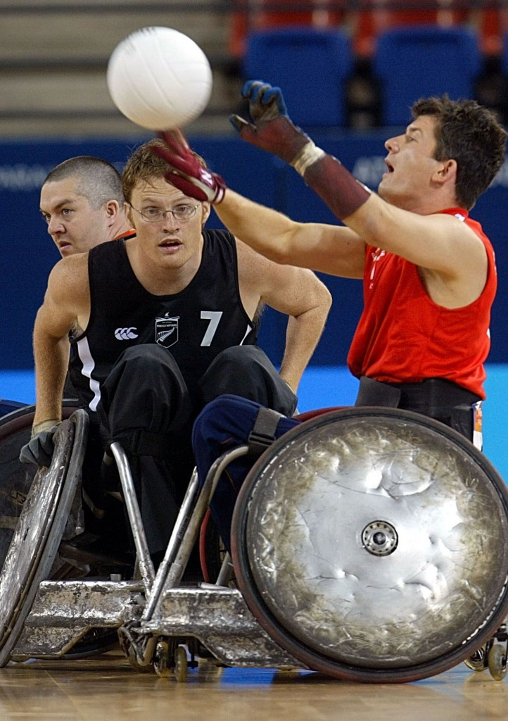 Britain's Alan Ash, right, played in five Paralympic Games ©Getty Images
