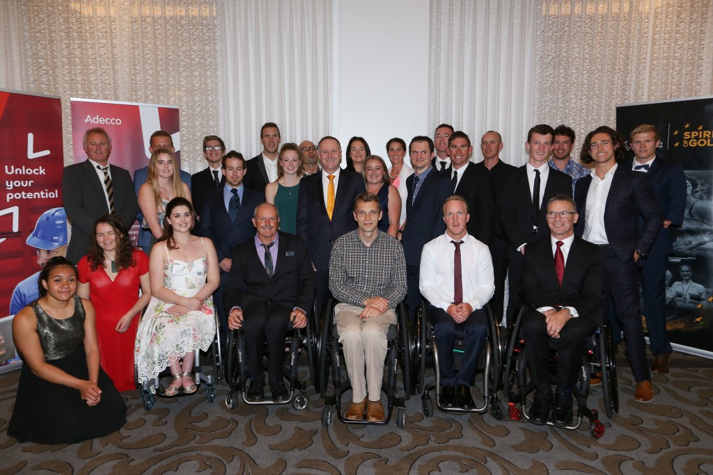 New Zealand's Paralympians celebrated their success at an event in the presence of the country's Prime Minister John Key ©PNZ