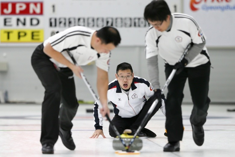 Chinese Taipei reach men's semi-finals for first time at Pacific-Asia Curling Championships