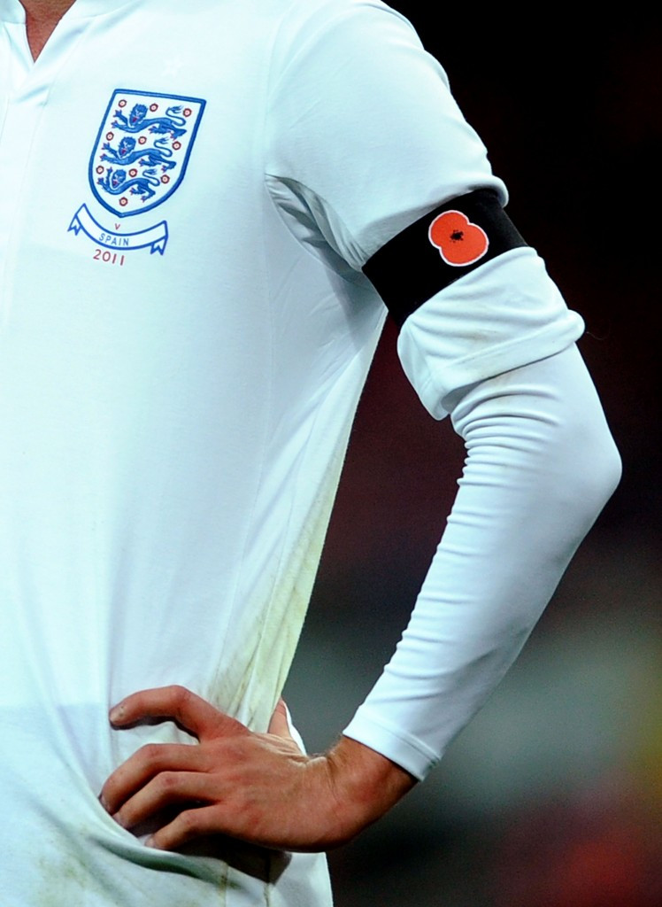 England and Scotland will defy the FIFA ban by wearing poppy armbands tomorrow ©Getty Images