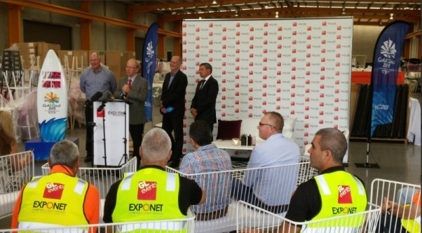 A partnership between Australian companies GL events and ExpoNet will deliver temporary grandstand seating for the Gold Coast 2018 Commonwealth Games ©Gold Coast 2018