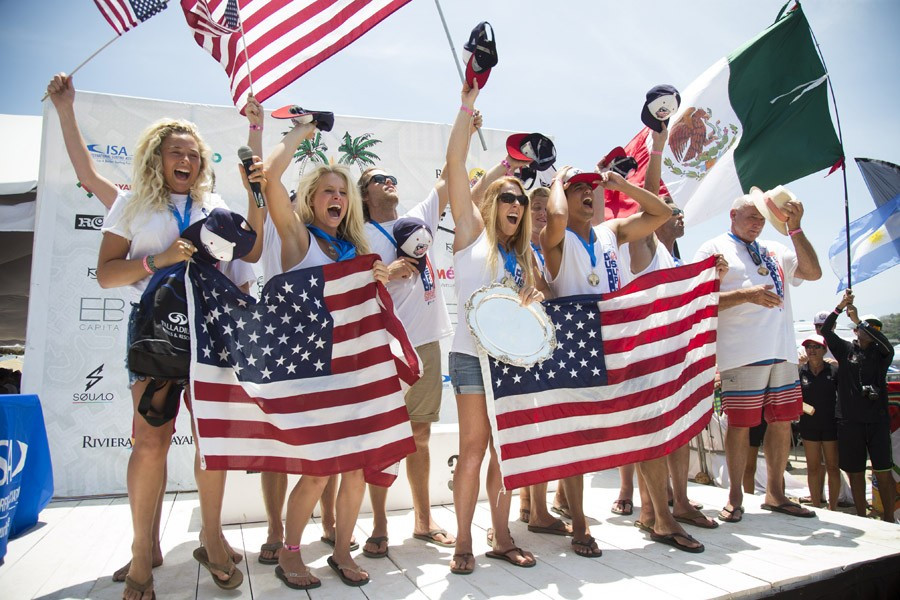 The United States are the reigning ISA World StandUp Paddle and Paddleboard Champions ©ISA