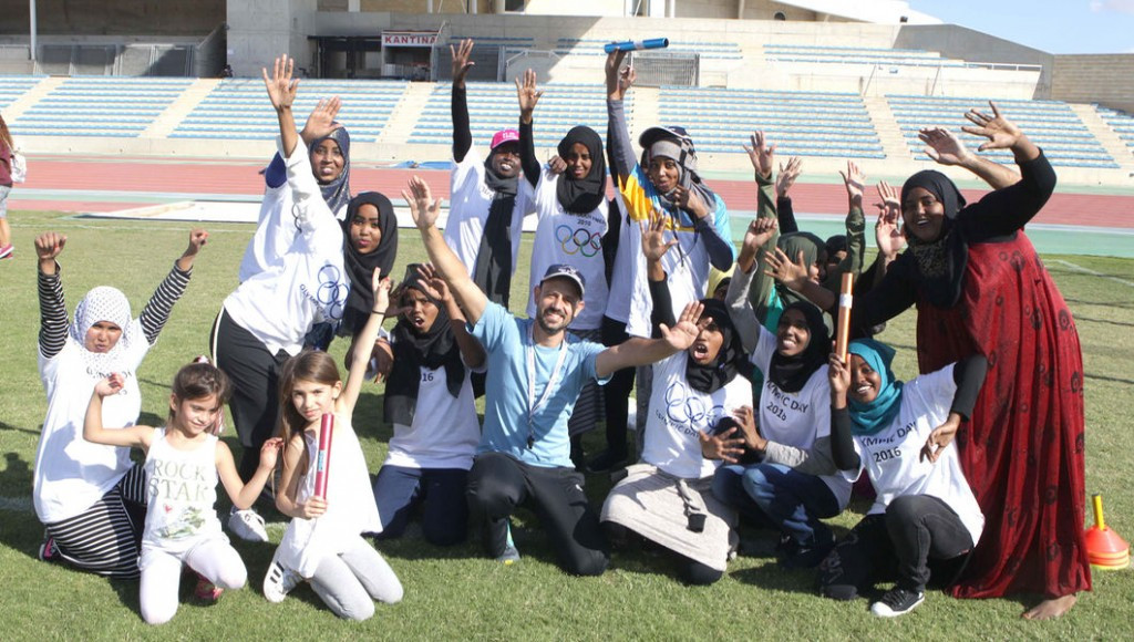 Young refugees try sports as Cyprus Olympic Committee holds taster day