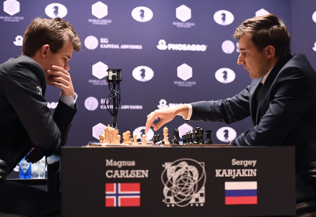 The World Chess Championship opener ended in a draw ©Getty Images