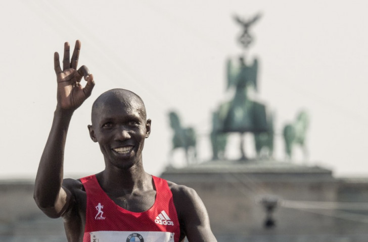 Kenya's former world marathon record holder Wilson Kipsang, pictured after finishing second in this year's Berlin Marathon, also welcomed the appointment of his friend Haile Gebrselassie to the EAF ©Getty Images