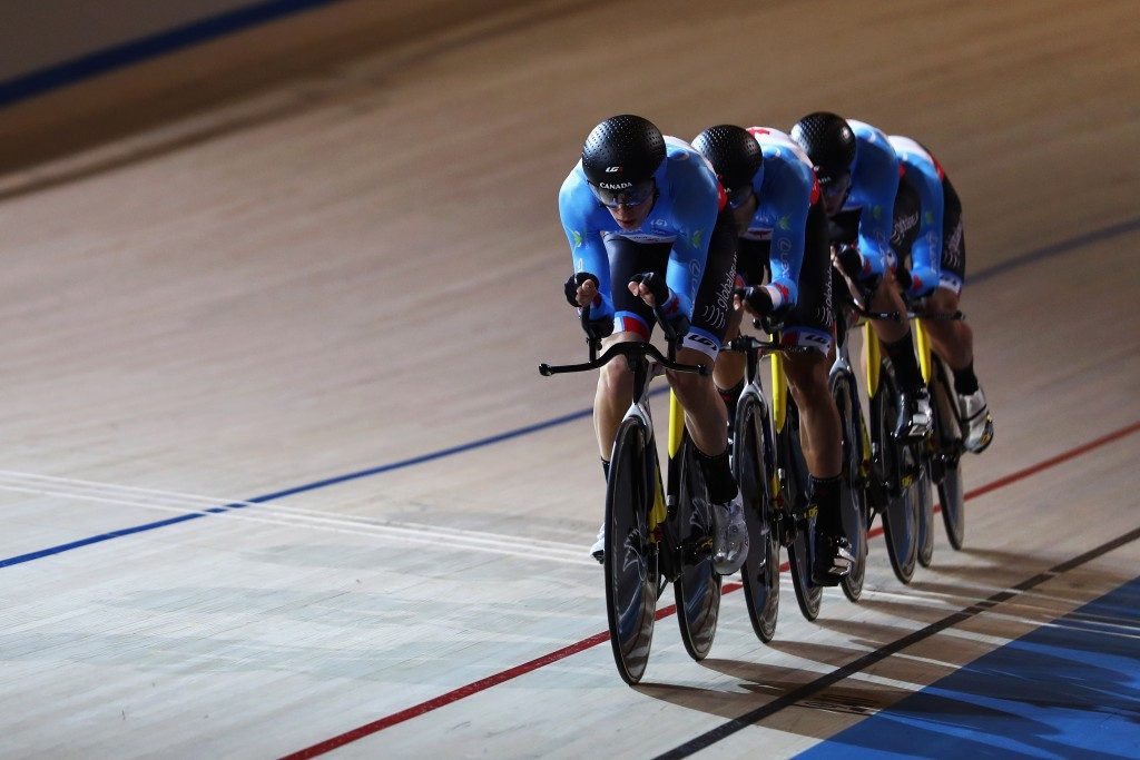 Canada coast to team pursuit gold on second day of UCI ...