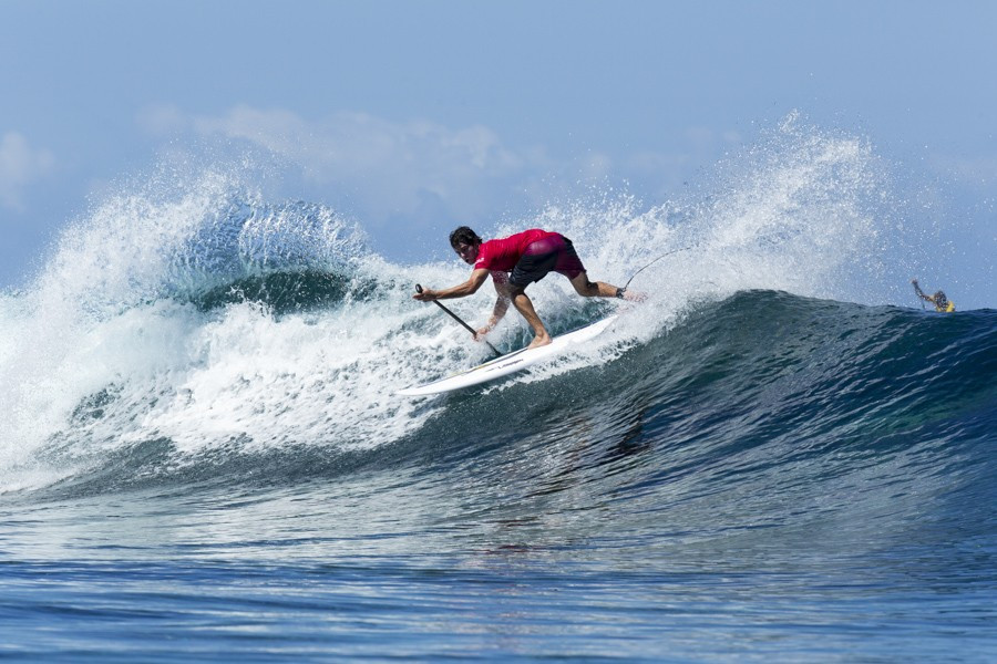 Mo Freitas of Hawaii produced a sublime display to reach round three of the men's competition ©ISA