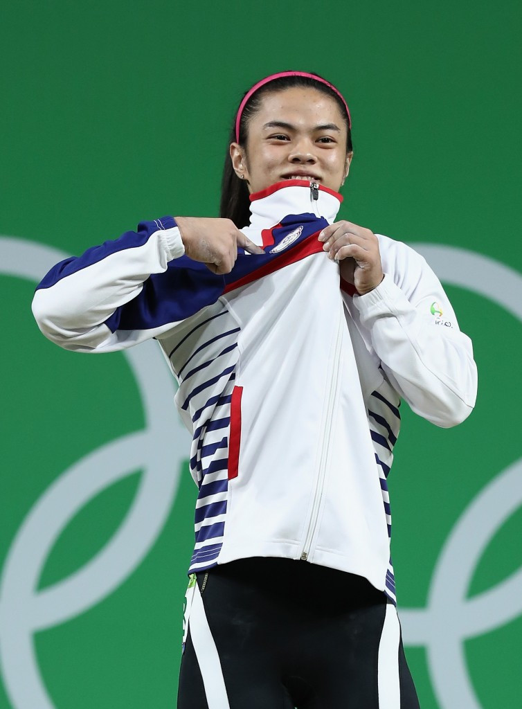 Hsu Shu-ching won weightlifting gold for Chinese Taipei at Rio 2016 ©Getty Images