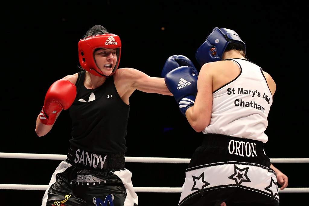 Sandy Ryan, left will be competing for Great Britain at the European Women's Boxing Championships in Sofia ©Getty Images