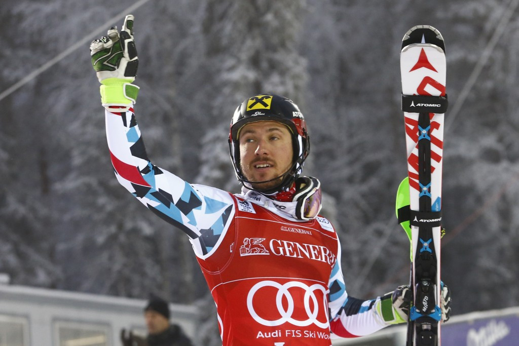 Marcel Hirscher won the slalom title in Levi today ©Getty Images