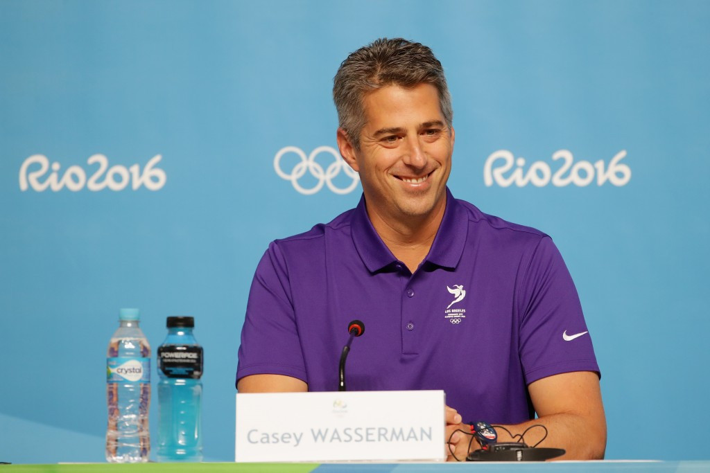 Los Angeles 2024 chairman Casey Wasserman claims the budget for the city's bid for the Olympic and Paralympic Games will be rigorously scrutinised before being made public next February ©Getty Images