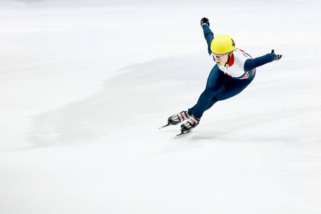 Elise Christie set a 500m world record before crashing out in the final ©Getty Images