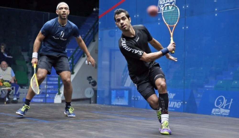Mexico's Cesar Salazar was among those to progress to the second round of the PSA Qatar Classic in Doha ©PSA