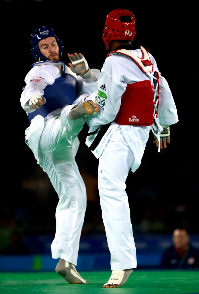Stephen Lambdin (left) competed at the Rio 2016 Olympic Games ©Getty Images