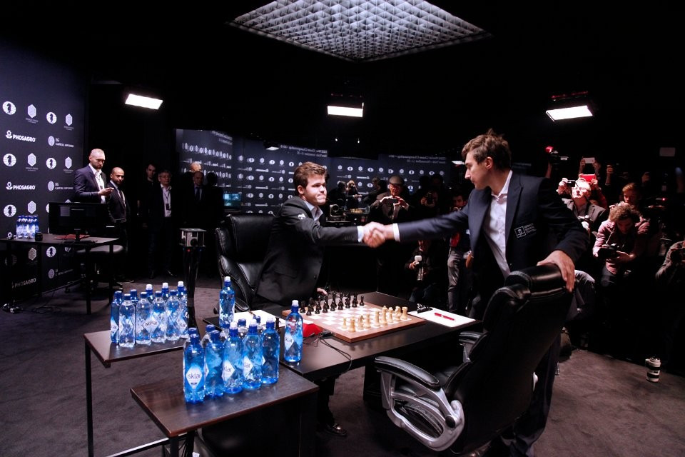 The fourth World Chess Championship match was again a draw ©FIDE