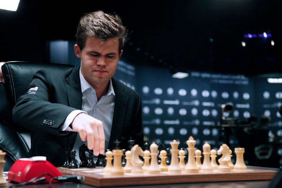 Magnus Carlsen was again unable to convert from a strong position ©FIDE