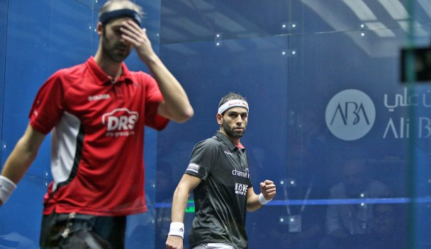Mohamed ElShorbagy maintained his winning streak against Simon Rosner ©PSA