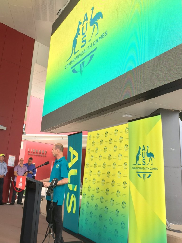 Steve Moneghetti, Chef de Mission of the Australian team for Gold Coast 2018, was present at the launch ©Twitter