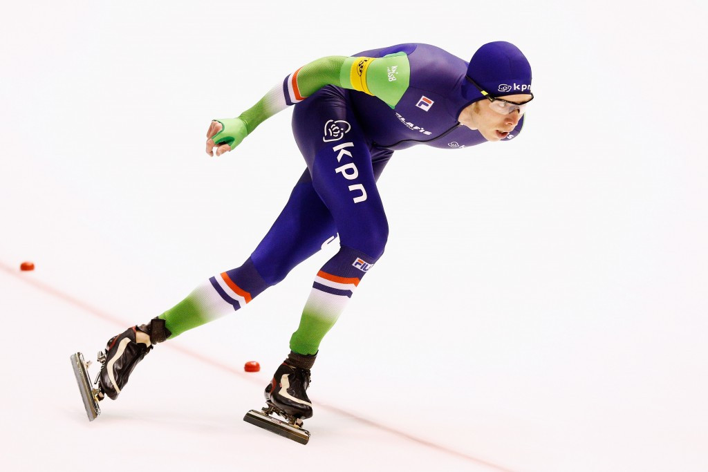 Jorrit Bergsma of The Netherlands will be aiming to improve in Nagano on his second placed finish in the 5,000m race at last weekend's World Cup in Harbin ©Getty Images