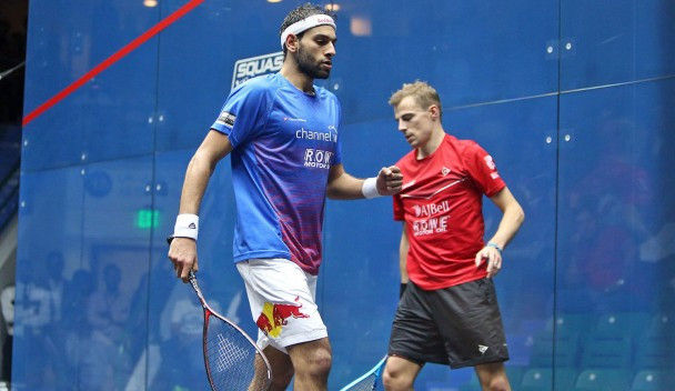 Mohamed ElShorbagy earned a dramatic win to reach the final ©PSA