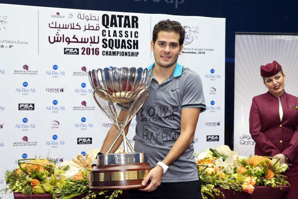 Karim Abdel Gawad won the PSA Qatar Classic ©PSA