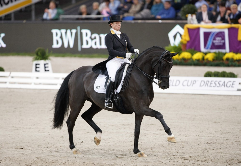 Werth leads German 1-2-3 at FEI Dressage World Cup