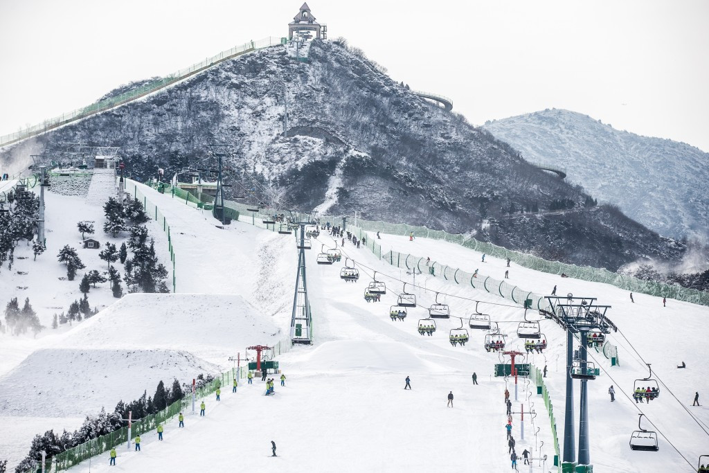 The expressway will link Beijing to Zhangjiakou (pictured), which will be holding biathlon, cross-country skiing and ski-jumping events among others during the Games ©Getty Images