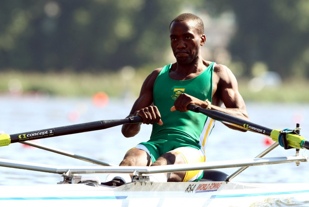 South Africa's Olympic champion Lawrence Ndlovu was part of the event in Zimbabwe ©Getty Images