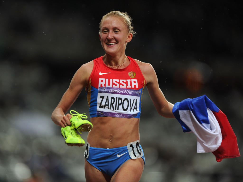 Russia steeplechase athlete Yuliya Zaripova, already stripped of her Olympic gold, was named on the list today ©Getty Images