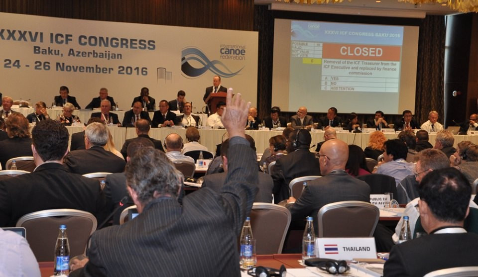 International Canoe Federation Executive Committee approve changes to governance structure