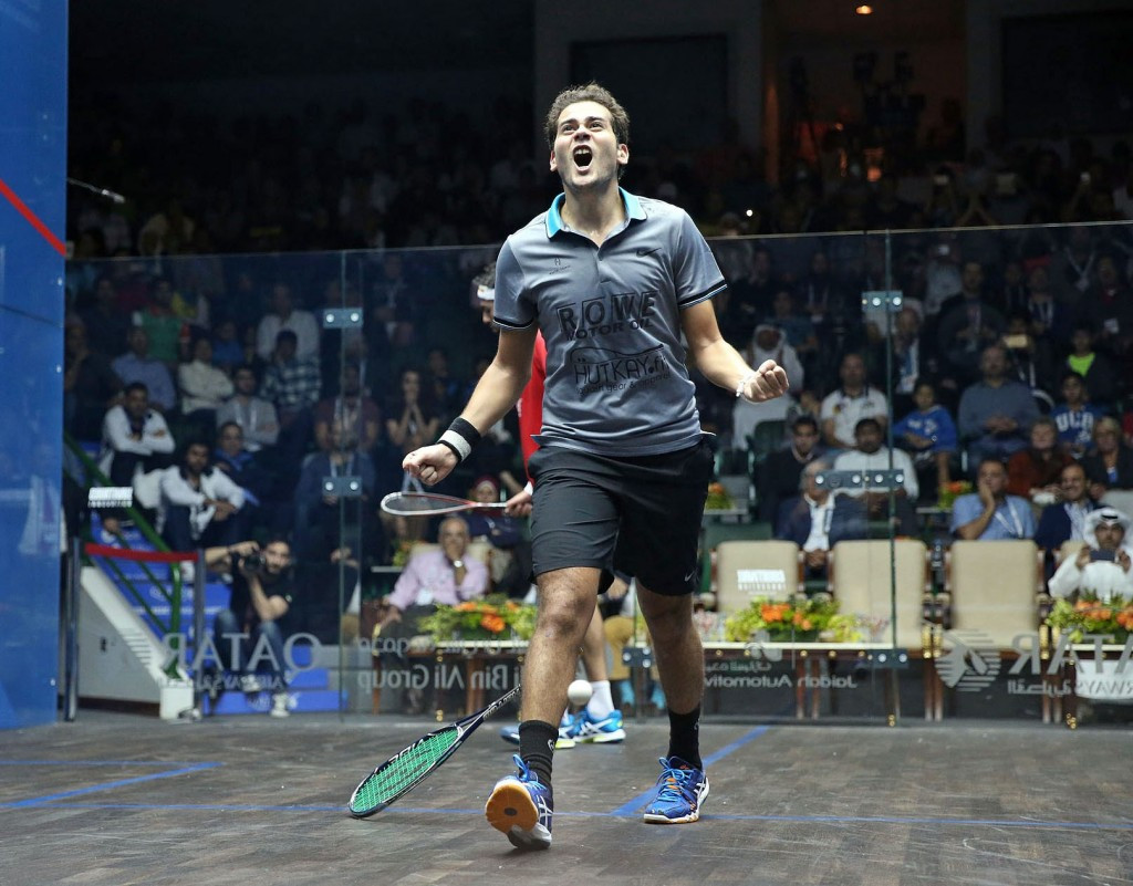 Karim Abdel Gawad has moved to the top of the Race to Dubai standings ©PSA