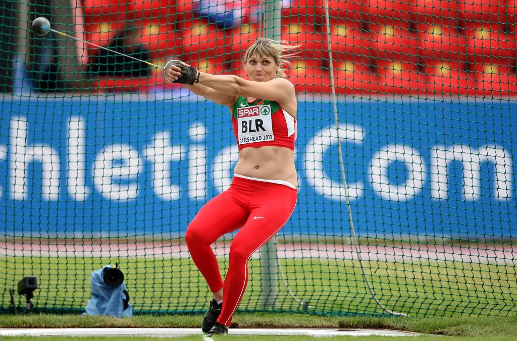 Aksana Miankova of Belarus will be stripped of the Olympic hammer throw gold medal ©Getty Images