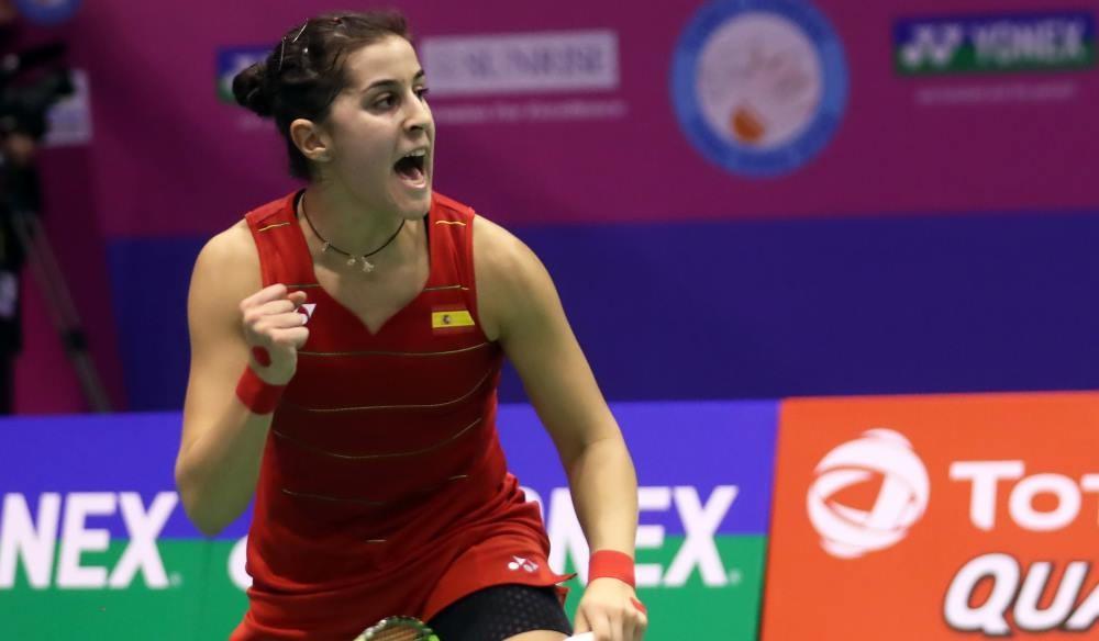 Olympic medallists Marin and Sindhu reach semi-finals at BWF Hong Kong Superseries