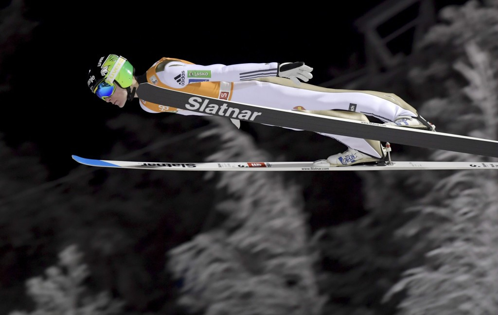 Domen Prevc claims first-ever victory as brother Peter crashes on second attempt at FIS Ski Jumping World Cup