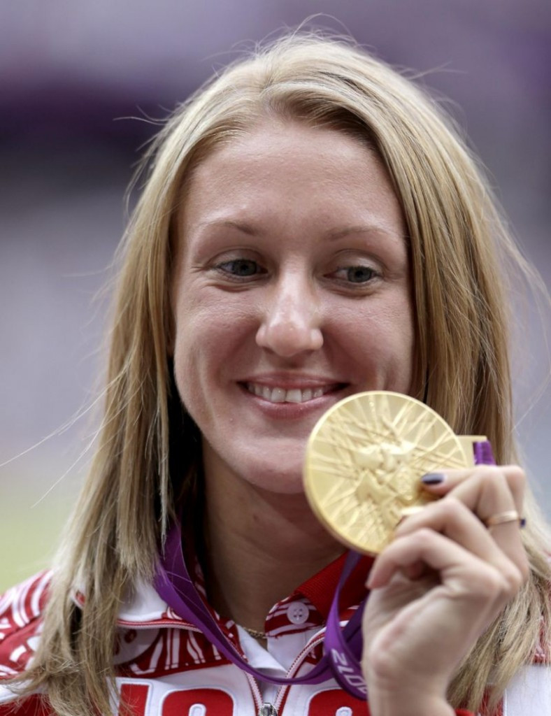 Yuliya Zaripova, winner of the 3,000 metres steeplechase at London 2012, was among several Russian athletes who paid bribes to IAAF officials to help cover-up positive doping tests, it has been alleged ©Getty Images