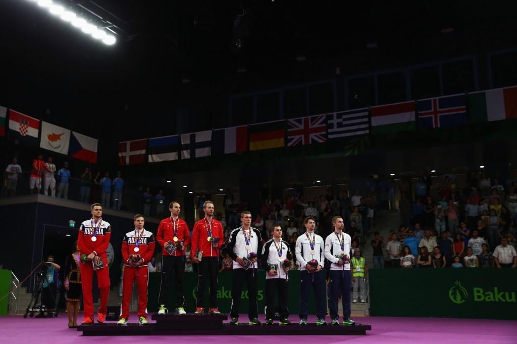 Mathias Boe and Carsten Mogensen secured Denmark's first Baku 2015 European Games gold ©Getty Images