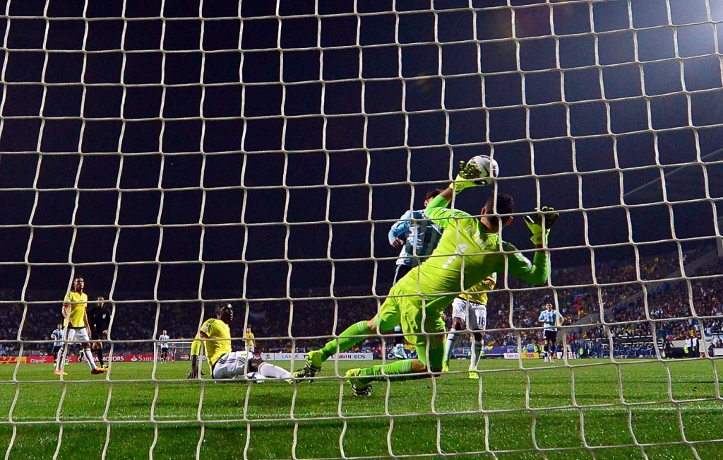 David Ospina was in inspired form in goal for Colombia but could not prevent their defeat