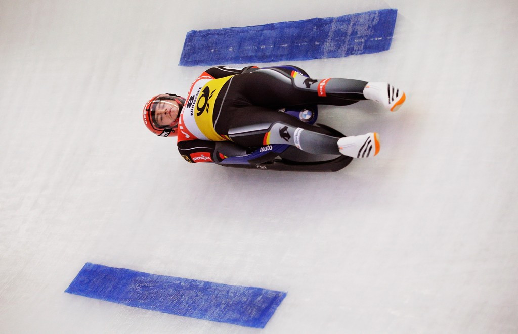 Johannes Ludwig claimed his first-ever International Luge Federation World Cup victory ©Getty Images