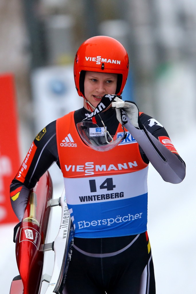 Dajana Eitberger won the women's sprint race ©Getty Images