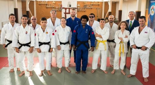 Judoka from six countries were invited to Hungary to appear in the video ©IBSA