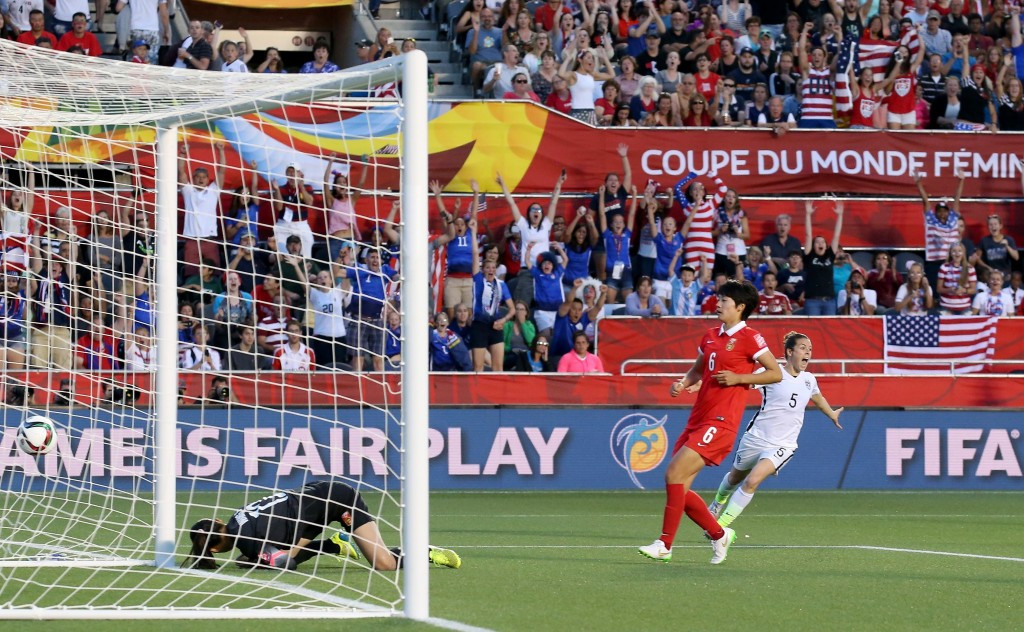 A header from Carli Lloyd was enough to send the United States through