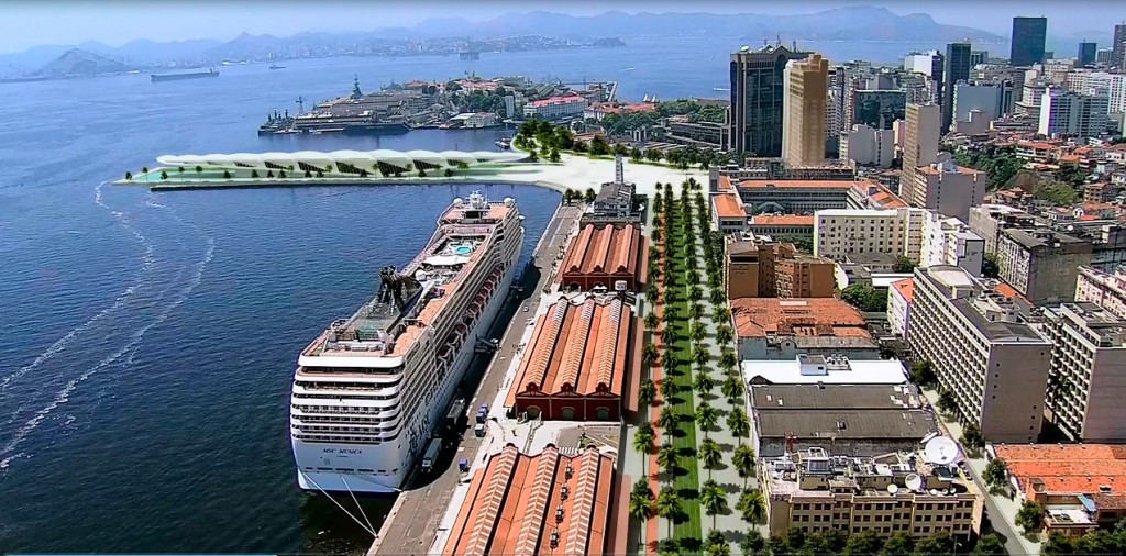 Redevelopment of the port area of Rio de Janeiro was described as something which could not have happened without the Olympic Games ©Portovosa.com