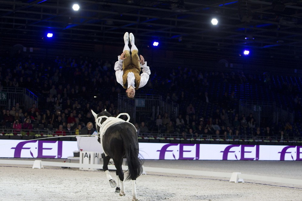 Derks and Taillez secure top prizes at FEI World Cup Vaulting leg in Paris