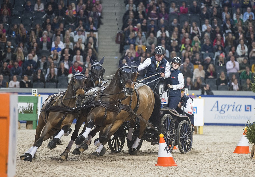 Exell in sublime form as he wins second stage of FEI Driving World Cup