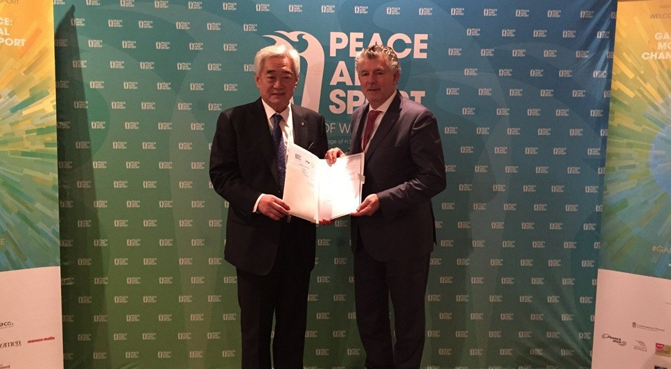 "WTF hail agreement with Peace and Sport as ""great step forward"""