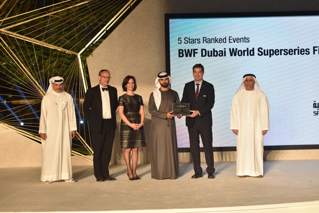BWF Dubai World Superseries Finals receives top five-star rating under sports events ranking system